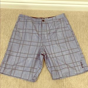 Hurley blue and gray swim shorts